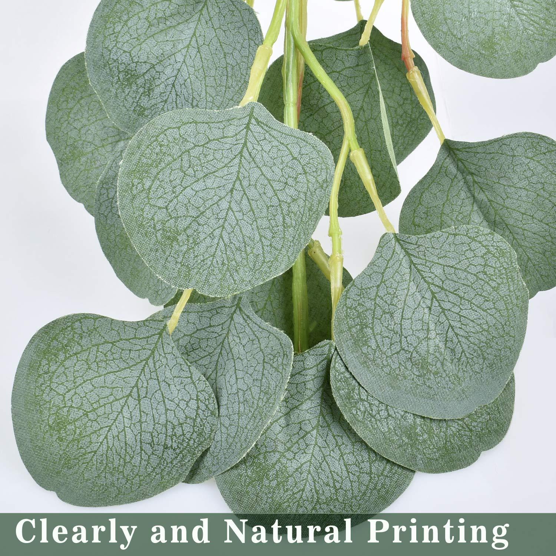 2 Pack E-Bestar Eucalyptus Guirlande Planteur Artificiel Verdure Feuille Artificielle MNariage D/écoration de la Maison Accessoires D/écoration Murale
