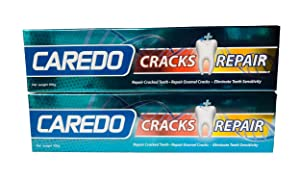 CAREDO Healing Teeth Crack Toothpaste, The ONLY Toothpaste Repairing Enamel Cracks, Cure Tooth Sensitivity, Root Damage Teeth Displacement Treatment, Remove Pigment 100g 2 Counts