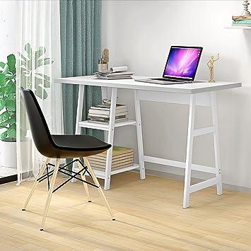 Genérico * en Lap Escritorio esquinero para ordenador portátil hogar oficina de madera portátil Ta mesa