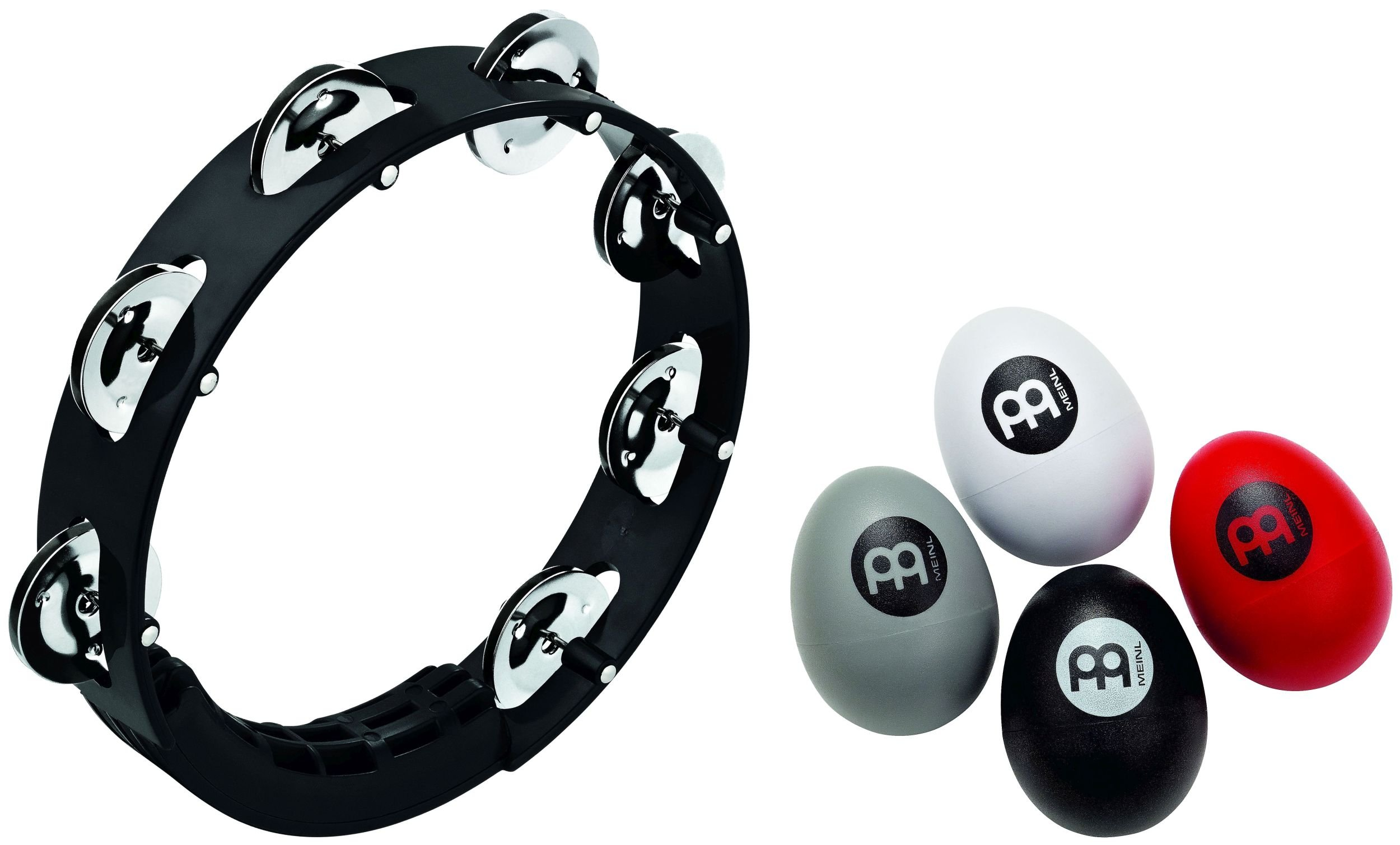 Meinl Percussion PP-4 Singer/Songwriter Percussion Pack with 4-Piece Egg Shaker Set and Compact Tambourine by Meinl Percussion