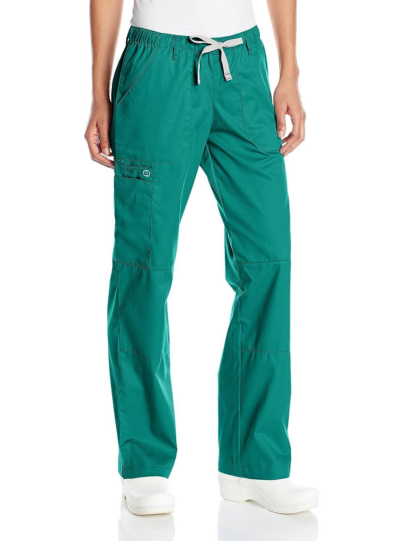 a37b2fd1da6c Amazon.com  WonderWink Women s Wonderwork Straight Leg Cargo Scrub Pant   Clothing