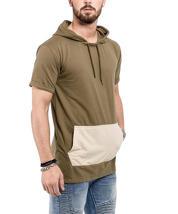 Phoenix Hooded T-Shirt Herren Longshirt mit Kapuze: Amazon.de: Bekleidung