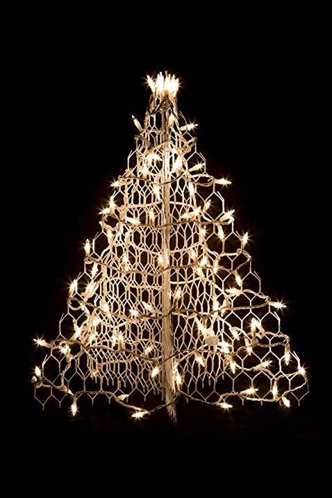 2' White Wire Crab Pot Christmas Tree with100 Clear Incandescent Mini Lights - Amazon.com : 2' White Wire Crab Pot Christmas Tree With100 Clear