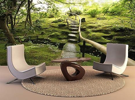 YBHNB Foto Mural De Pared Jardín Japonés Zen Arte De La Pared Decoración Foto Papel Pintado Cartel Impresión De Alta Calidad-200X140Cm: Amazon.es: Hogar