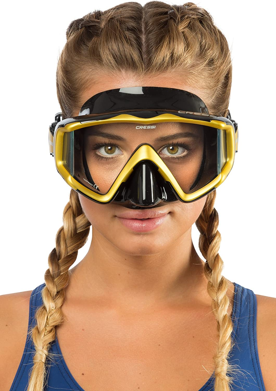 Cressi Liberty Triside Mask One Size Black//Yellow