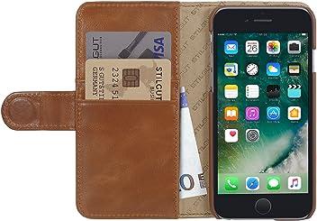 StilGut Talis, Housse Portefeuille en Cuir pour iPhone 6 & iPhone 6s (4.7 Pouces) d'Apple