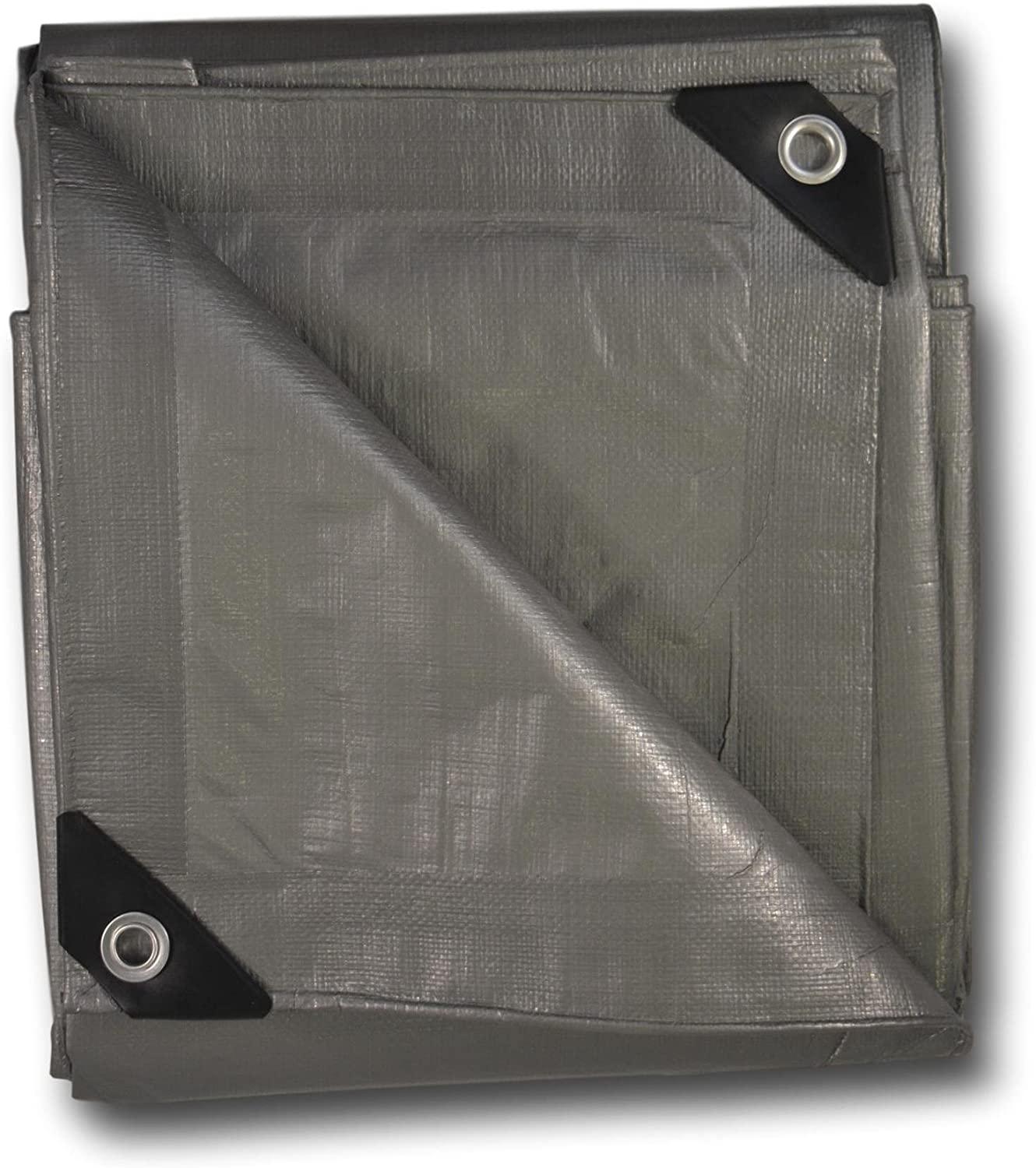 Heavy-Duty Silver Tarp 6 x 8 ft All Purpose Weatherproof Protective Cover