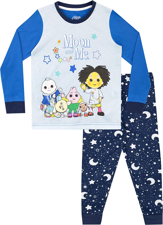 Moon & Me Pijamas de Manga Larga para niños