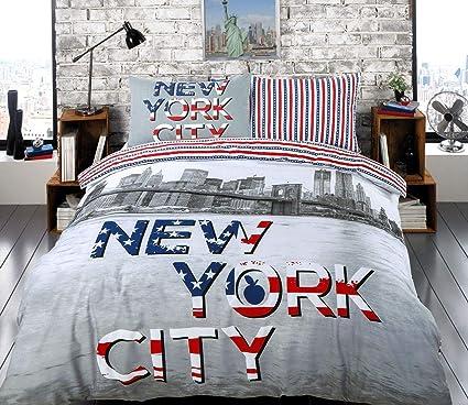 311e18c000e Nimsay Home Double Bed Size Teenage Boys Girls Quilt Duvet Cover Bedding Set  (New York City): Amazon.co.uk: Kitchen & Home