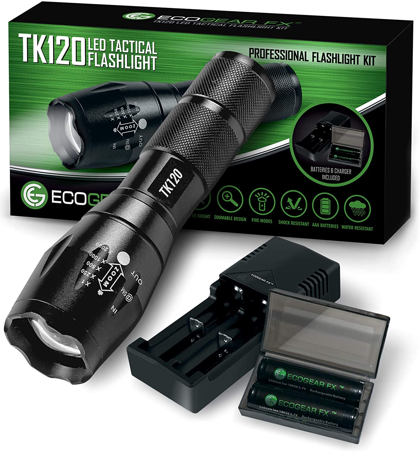 best EcoGear FX TK 12 Complete LED Tactical Flashlight under $50