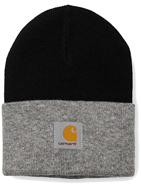 cf26fa56eb09da Carhartt Bi-Colored Acrylic Watch Hat unisex adults, hat, black, One size  EU: Amazon.co.uk: Clothing