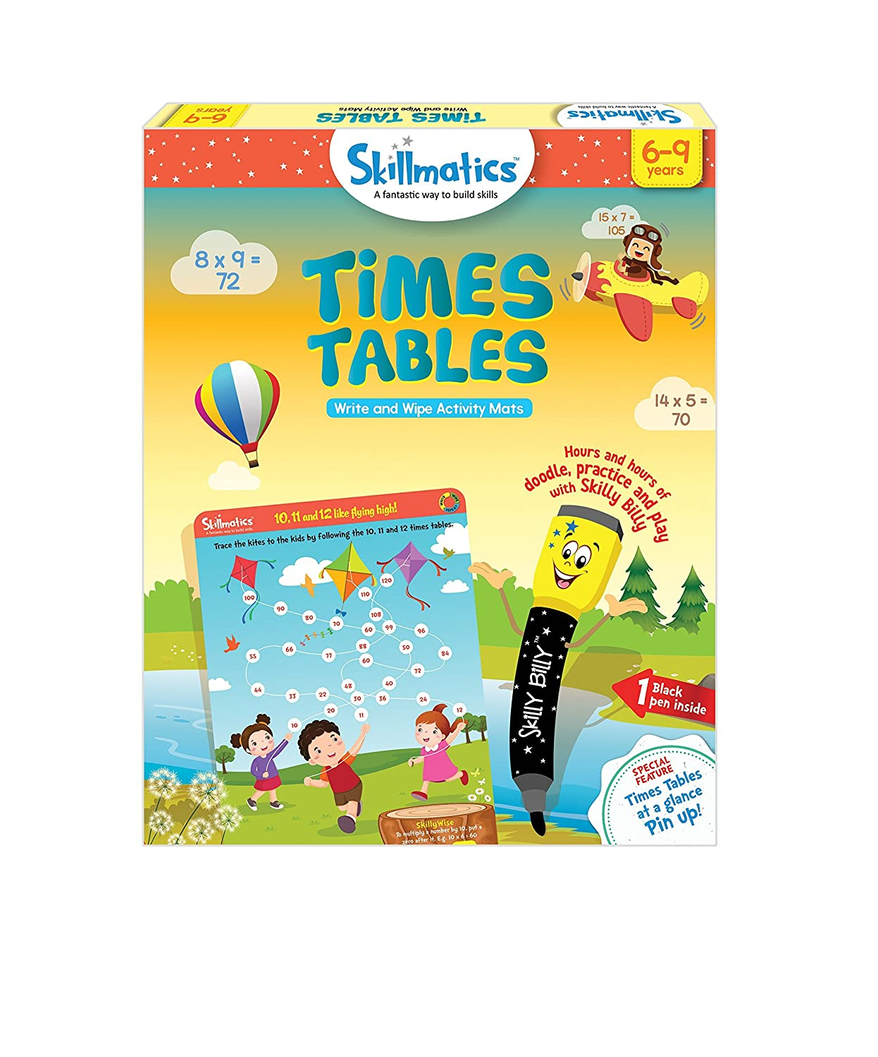 Skillmatics Fun Learning Times Tables 6-9 Years  STEM Learning   Creative Fun Activities Gift Boys Girls Kids Ages 6 to 9 Years Parksons Packaging Limited