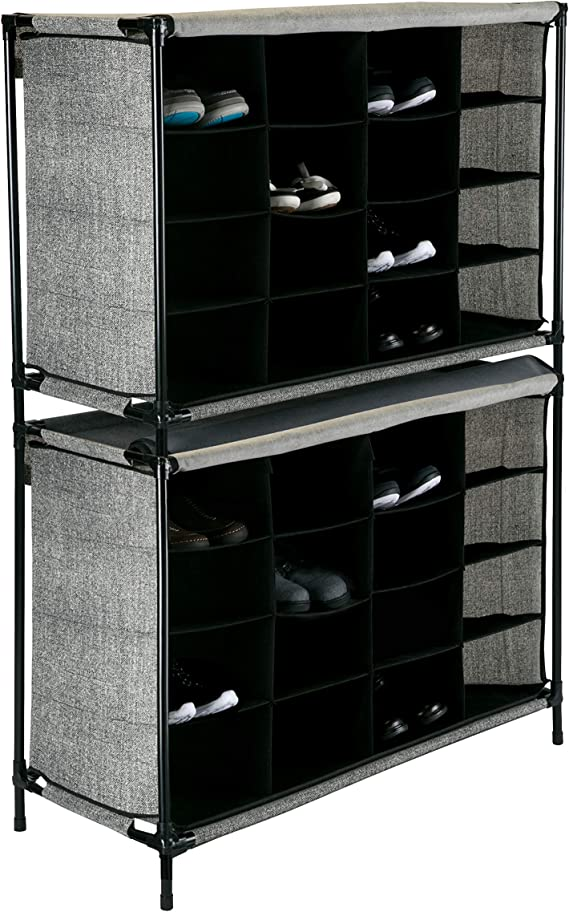 Ordex Shoe Shelf Shoe Cabinet Shoe Stand up to 16 PAIRS B 84 X H 66 X D 35 cm