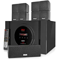 Pyle 5.1 Channel Home Theater Speaker System - 300W Bluetooth Surround Sound Audio Stereo Power Receiver Box Set w…
