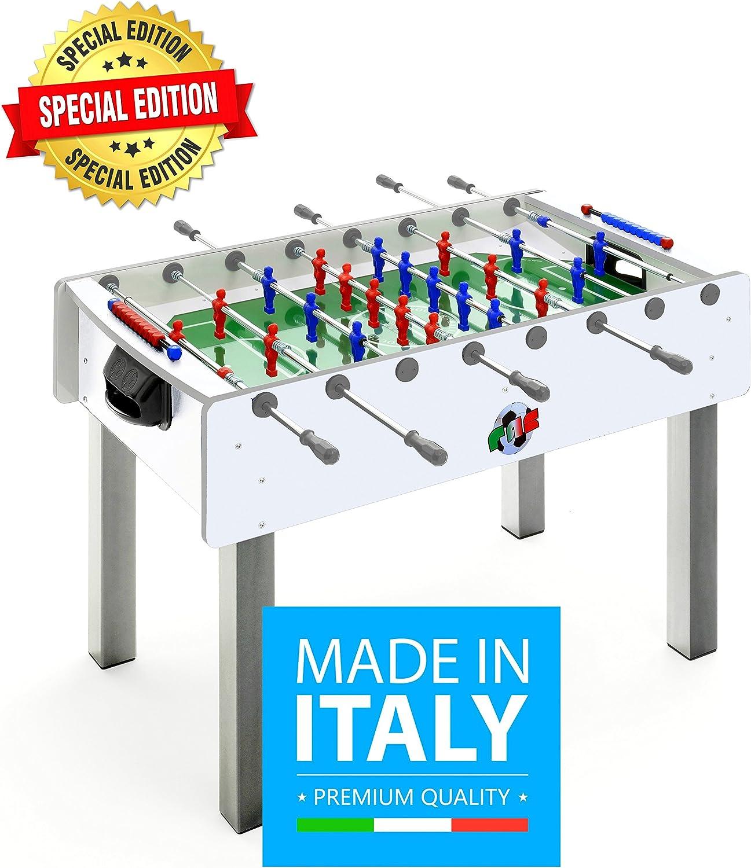 Fas Pro - Futbolín blanco edición especial, con barras retráctiles ...