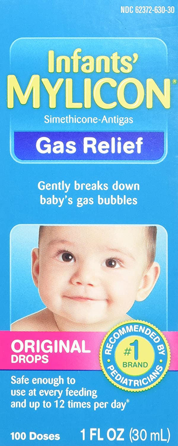 Mylicon Infant Gas Relief Drops Original Formula 1 oz (2 Pack) Mylan Pharmaceuticals
