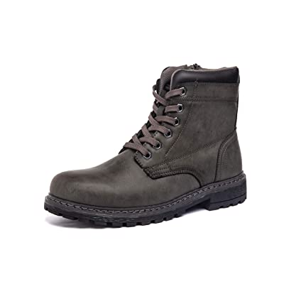 MORENDL Men's Zipper Premium Water Resistant Rugged Outsole Construction Performance Soft Toe Work Boots: Shoes