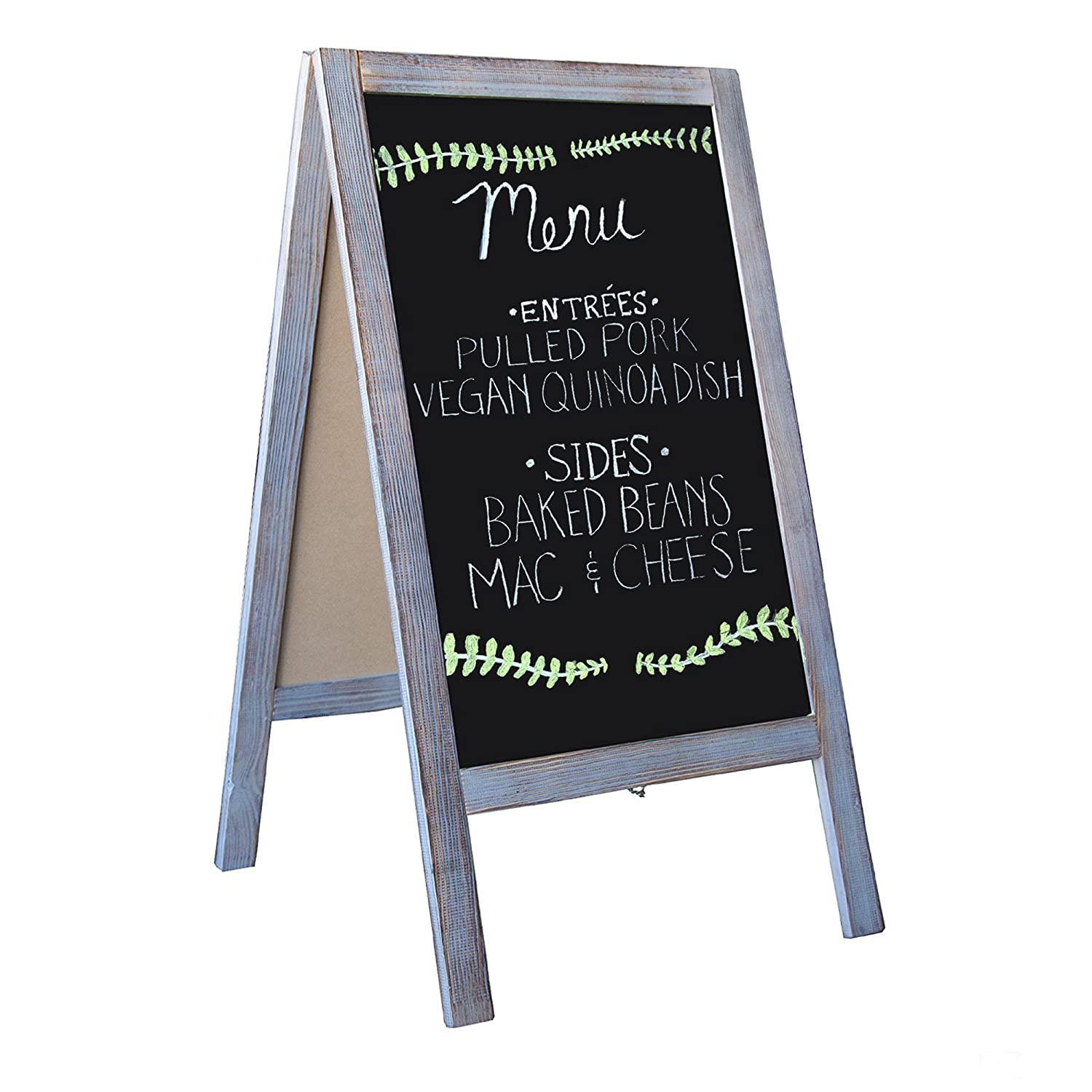 Wooden A-Frame Sign with Eraser & Chalk - 40\