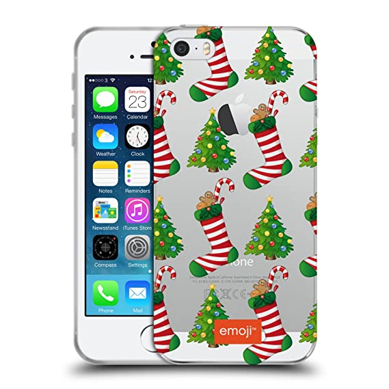 official emoji christmas tree stockings winter wonderland soft gel case for iphone 5 iphone 5s iphone