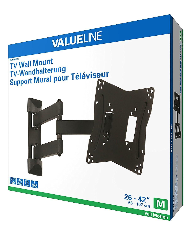 amazoncom valueline tv wall mount full motion 26 4266 107 cm 20 kg vlm mfm30 home audio theater - Sanus Full Motion Tv Wandhalterung