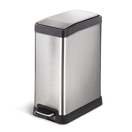 Amazoncom Home Zone Stainless Steel Kitchen Trash Can With