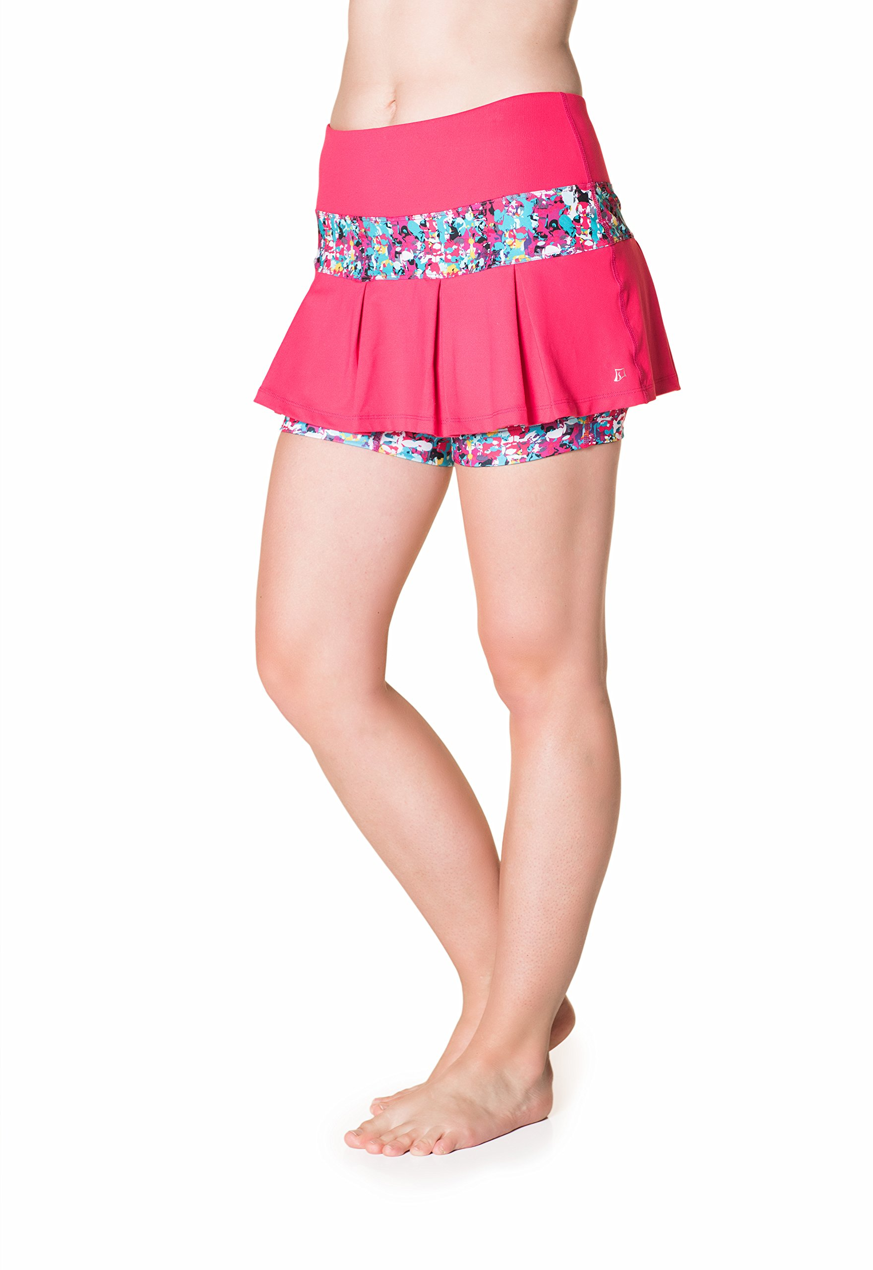 Skirt Sports Women's Lioness Skirt, Small, Cosmo Pink/Holiday Print by Skirt Sports