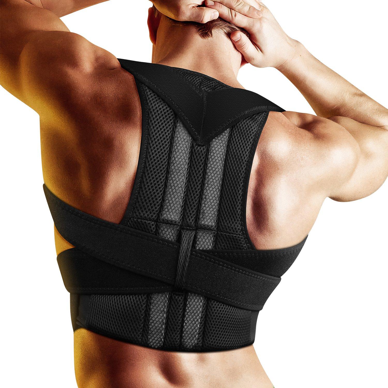 easgear姿勢矯正 – 調節可能な姿勢矯正ブレース – Backブレースfor Men and Women – Upper Back Pain Relief – 向上Bad姿勢とBack Pain (XXL) XXL unknown B07BJLWKDY XXL