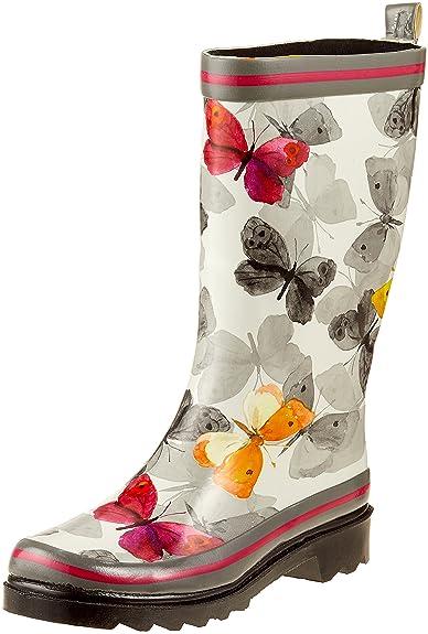 Beck Damen Schmetterling Gummistiefel, Mehrfarbig (Multicolor), 41 EU