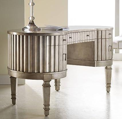 hooker furniture desk. Fine Desk Hooker Furniture 63810006 Melange Fluted Kidney Desk Silver In Desk O