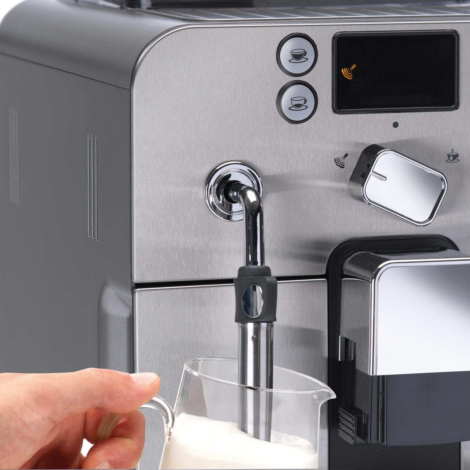 Gaggia Brera Super Automatic Espresso Machine in Silver. Pannarello Wand Frothing for Latte and Cappuccino Drinks. Espresso from Pre-Ground or Whole Bean Coffee. by Gaggia (Image #5)