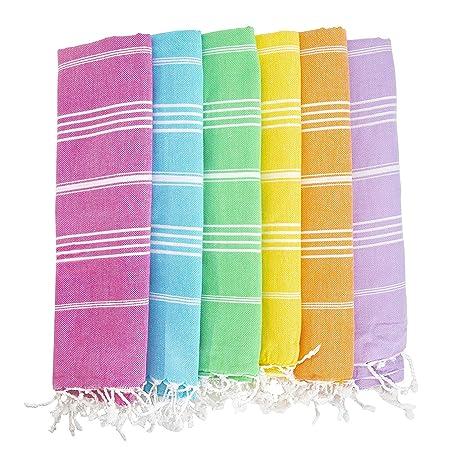Amazon.com: havluland Juego de 6 100% algodón turco de baño ...