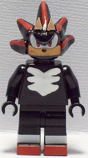 Amazon.com: Custom Lego Sonic the Hedgehog Shadow Minifig Figure ...