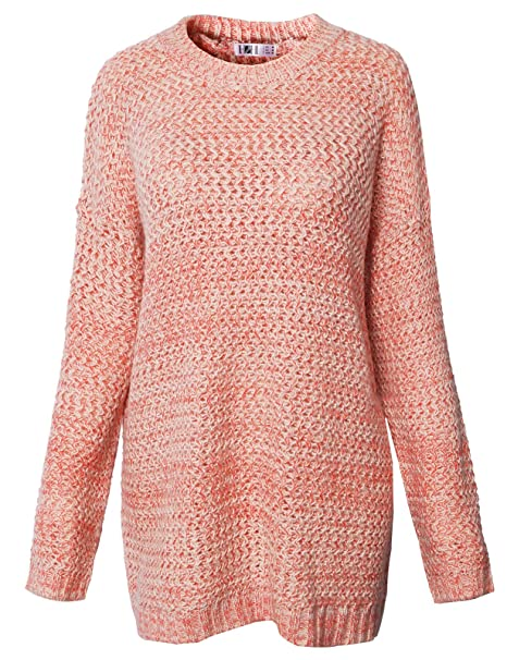 9c9e94f1e68e H2H Womens Comfort Solid Long Sleeve Crew Neck Twist Patterned Knitted  Sweater Grenadine US M