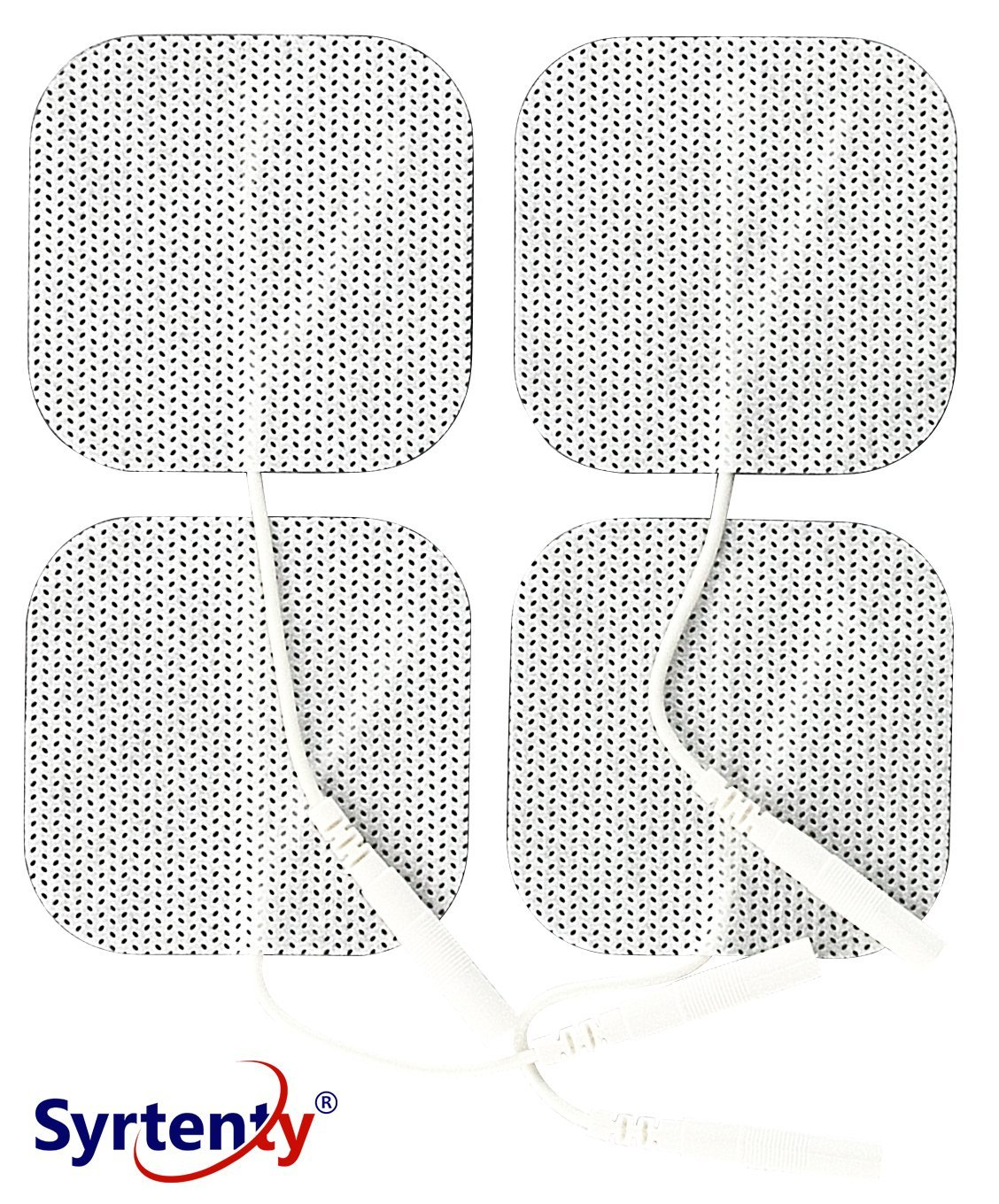 Syrtenty TENS Unit Electrodes Pads 2×2 Replacement Pads Electrode Patches for Electrotherapy