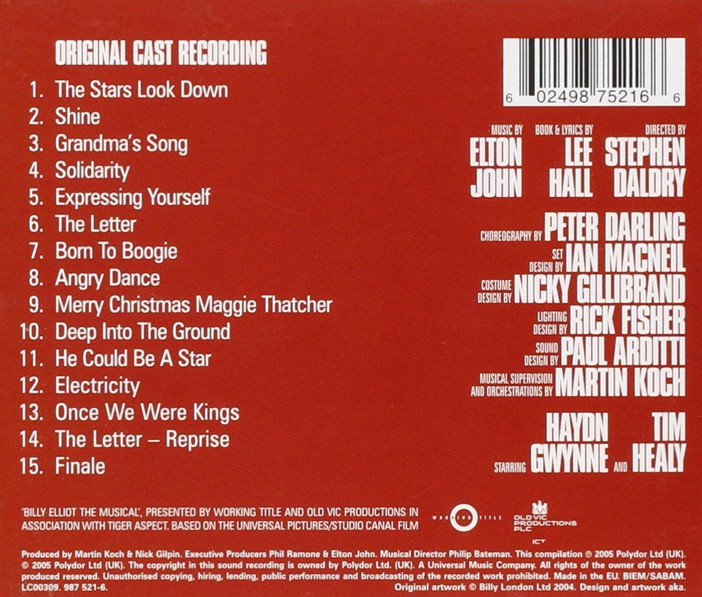Billy Elliot: The Musical: B.S.O.: Amazon.es: Música