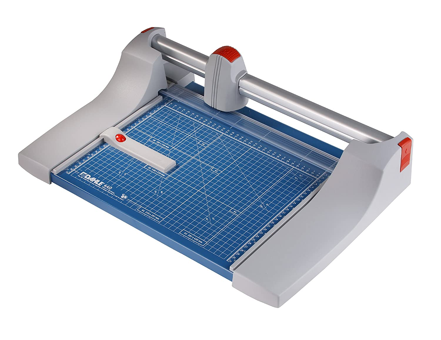 Dahle 440 Premium Rolling Trimmer, 14 1/8 Cut Length, 30 Sheet, Precision Self-Sharpening Blade, Cuts in Either Direction, Automatic Paper Clamp 14 1/8 Cut Length 00440-21310 4007885004402