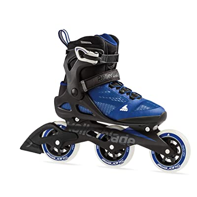 Rollerblade Macroblade 100 3WD Womens Adult Fitness Inline Skate, Violet Blue and Cool Grey, Performance Inline Skates : Sports & Outdoors