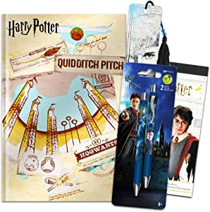 InkWorks Harry Potter Diary and Pen Bundle Set ~ Premium Harry Potter Journal Notebook, Ballpoint Click Pens, Bookmark and Harry Potter Stickers (Harry Potter Merchandise School Office Supplies)