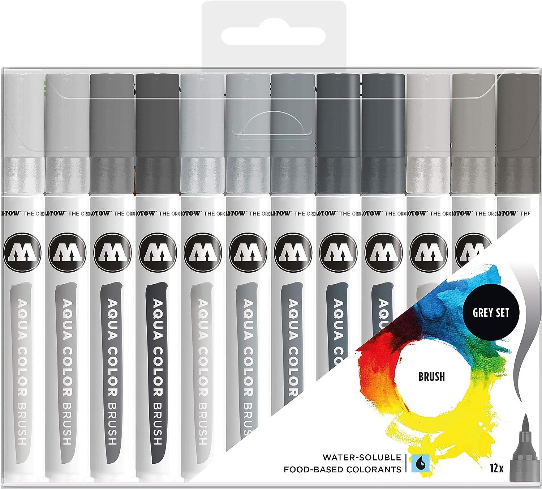 Molotow Aqua Color Brush Set base 2