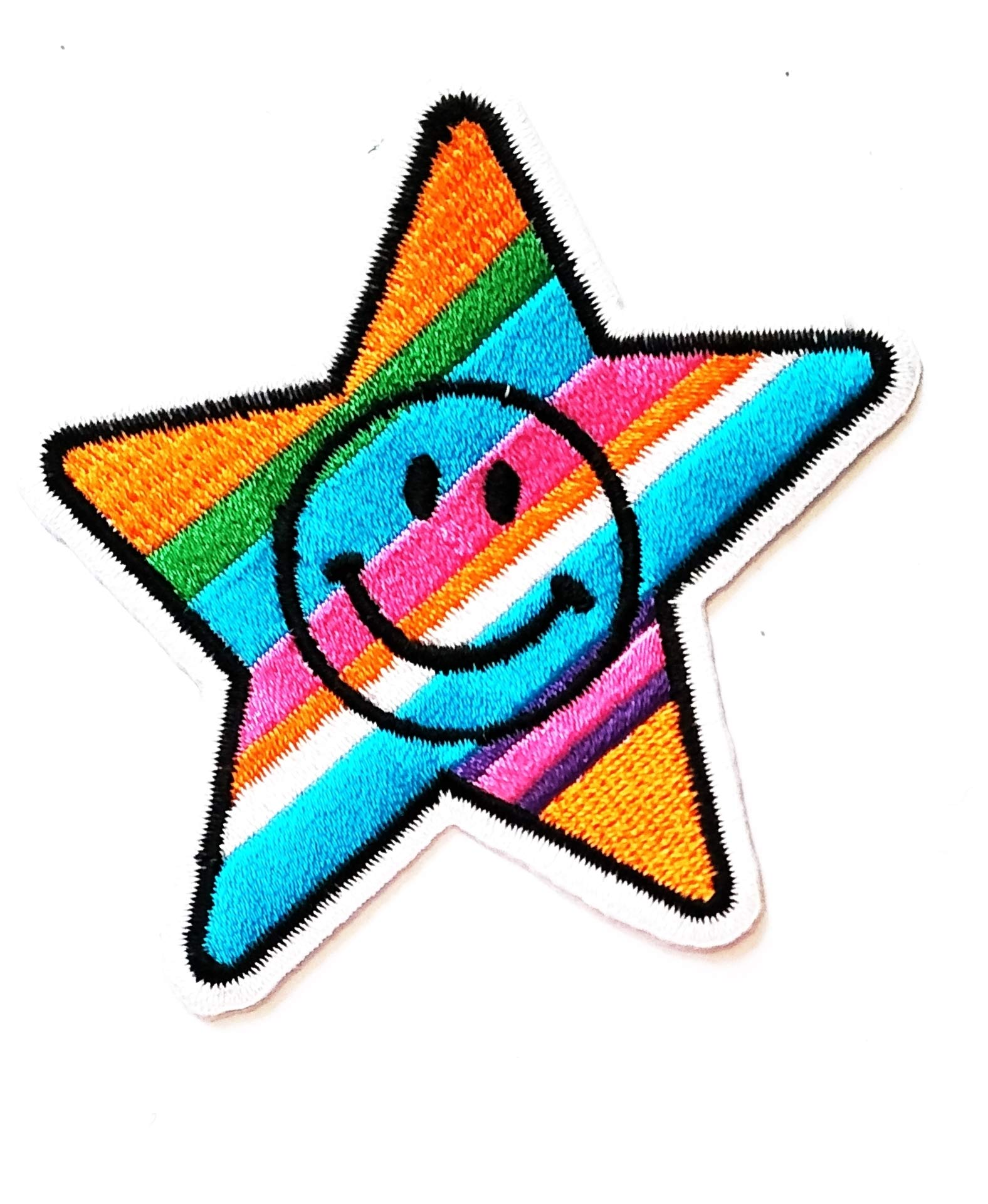 Nipitshop Patches Beautiful Star Rainbow Face Smile