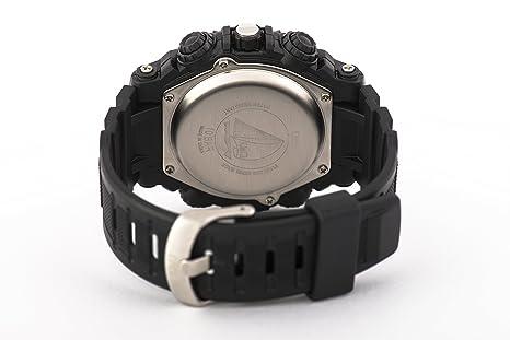 Q&Q Reloj de los hombres GW87J001Y analógica / digital con Correa de Resina: Amazon.es: Relojes