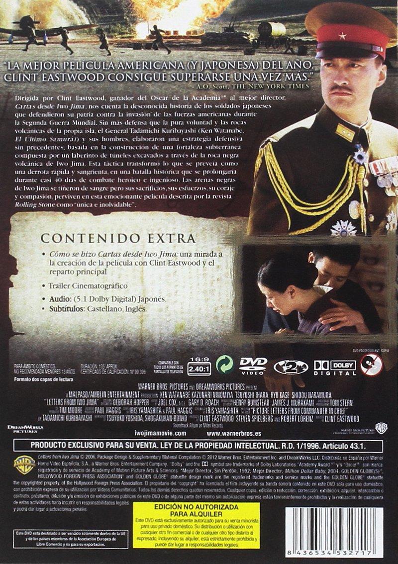 Cartas desde Iwojima [DVD]: Amazon.es: Ken Watanabe ...