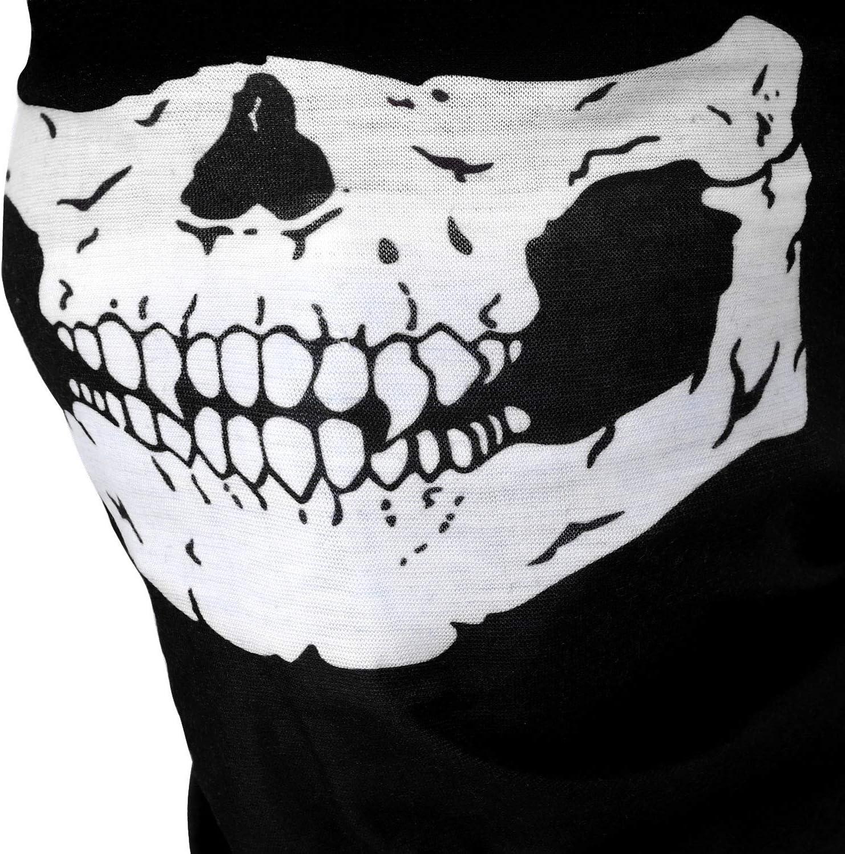 URATOT 6 Pack Skull Face Tube Cover Skull Face Headband Balaclava Face Scarf Skull Bandanas Motorcycle Biker Face Protection