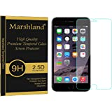 Marshland® Iphone7 Tempered Glass Screen Protector High Definition HD Glass Protective Film Multi-Layered Screen Protector 2.5D Round Edge, 0.33mm Thickness, 9H Hardness, Anti Glare, Anti Explosion, Bubble-free, Oleo phobic Coating