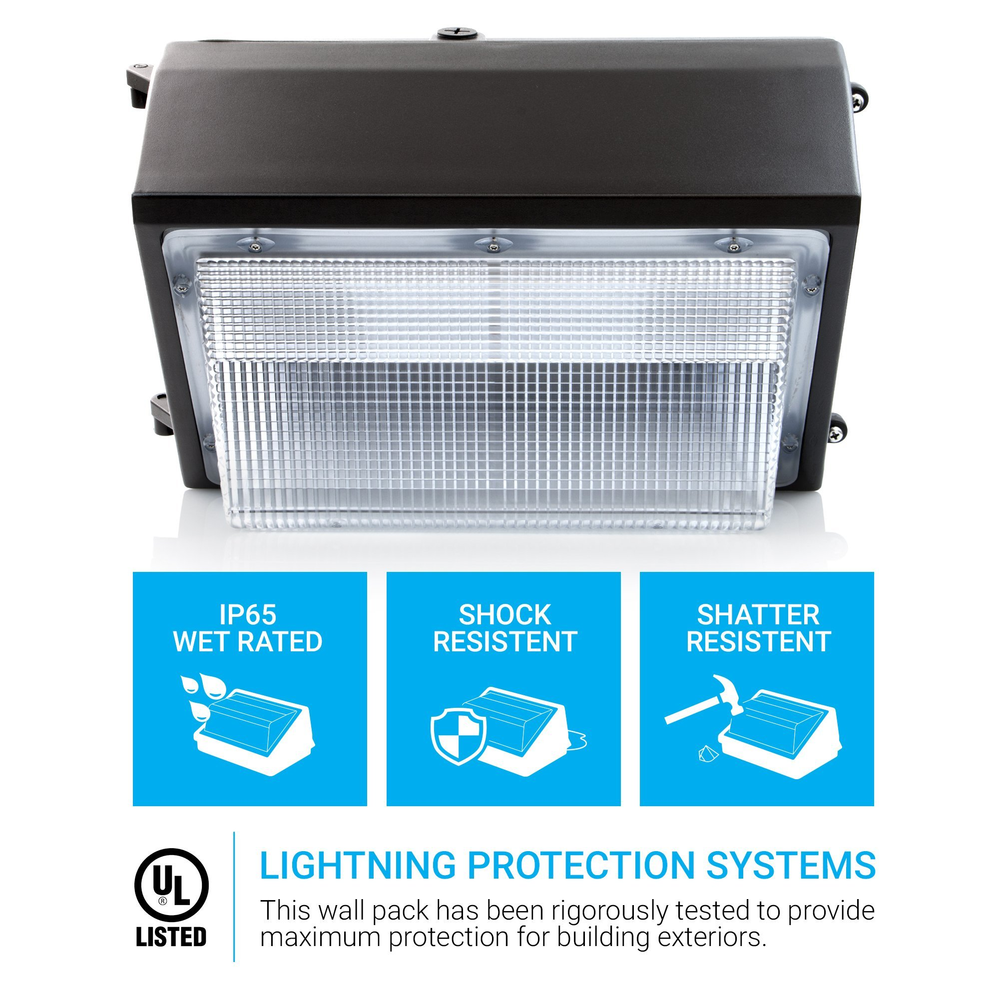 HyperSelect LED 120W Wall Pack Light, Hyperikon, HPS/HID Replacement, 5000K (Crystal White Glow), 9600 lumen, UL Listed by Hyperikon (Image #2)