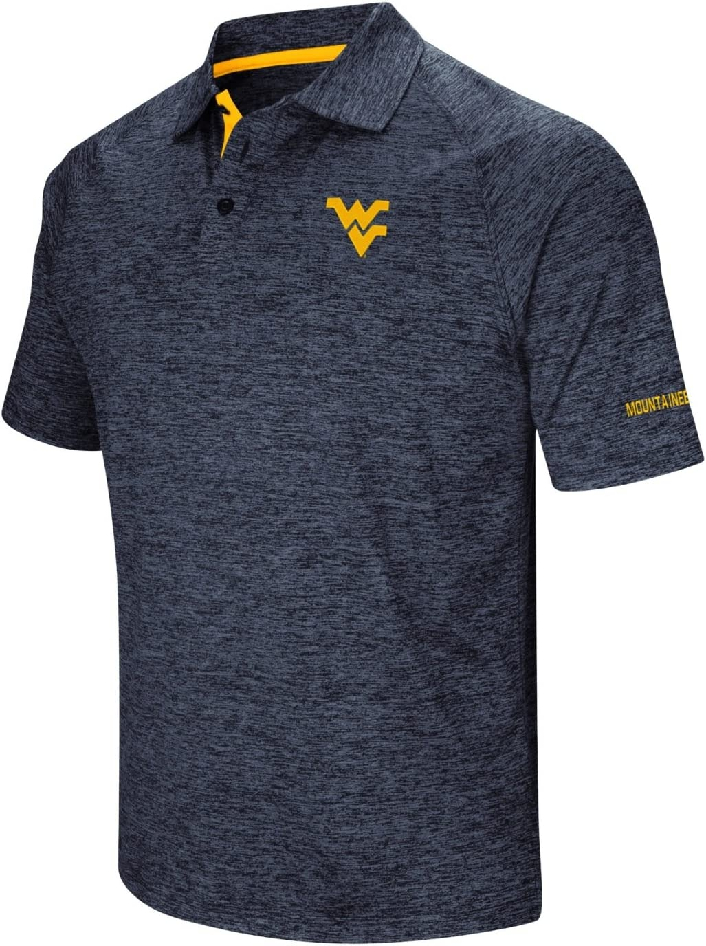 Stadium Athletics West Virginia Mountaineers NCAA Down Swing Mens Performance Polo Shirt