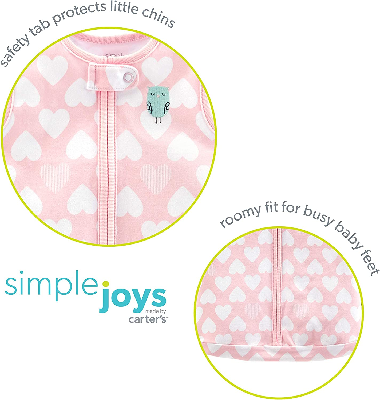 Simple Joys by Carters Baby Girls Multi-Pack Cotton or Microfleece Sleepbags