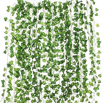 Formemory 12 Stuck Efeu Blatter Garland Kunstliche Pflanzen