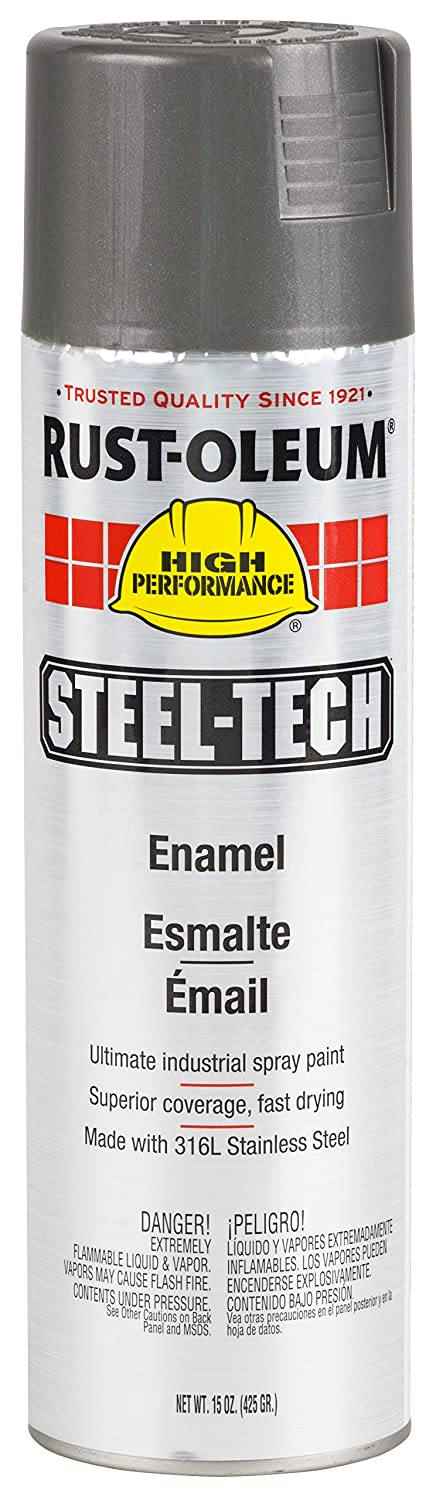 Rust-Oleum 268863 Steel-Tech Spray Paint, 20-Ounce, Stainless Steel, 6-Pack