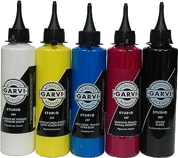 Garvi Pack ACRILICO 200 ml. Set de Pintura acrílica Colores ...